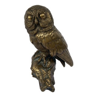 Mid 20th Century Bronze Owl by Brian Elton For Sale