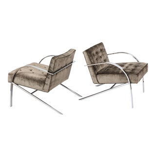 """Paul Tuttle """"Arco"""" Lounge Chairs - A Pair For Sale"""