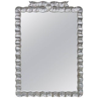Large Wall Mirror in Shell and Acrylic Frame