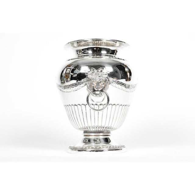 Old Sheffield Silver Plate Decorative Vase For Sale In New York - Image 6 of 9