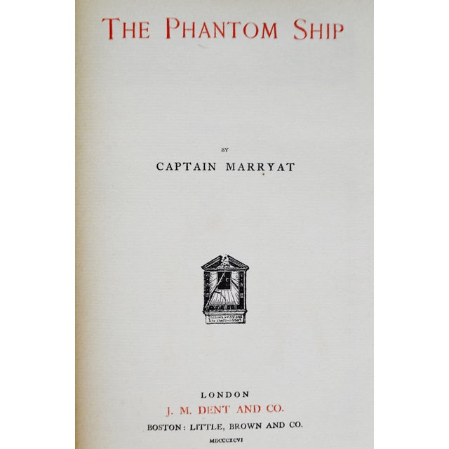 1896 Captain Frederick Marryat the Phantom Ship & the King's Own Hand-Made Paper Illustrated Books - 3 Volumes For Sale - Image 9 of 13