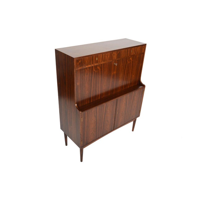 Danish Modern Rosewood Secretary Bar - Image 9 of 9