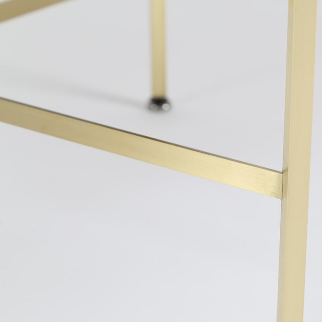 1950S VINTAGE PAUL MCCOBB X-BASE BRASS STOOLS- A PAIR For Sale - Image 9 of 10