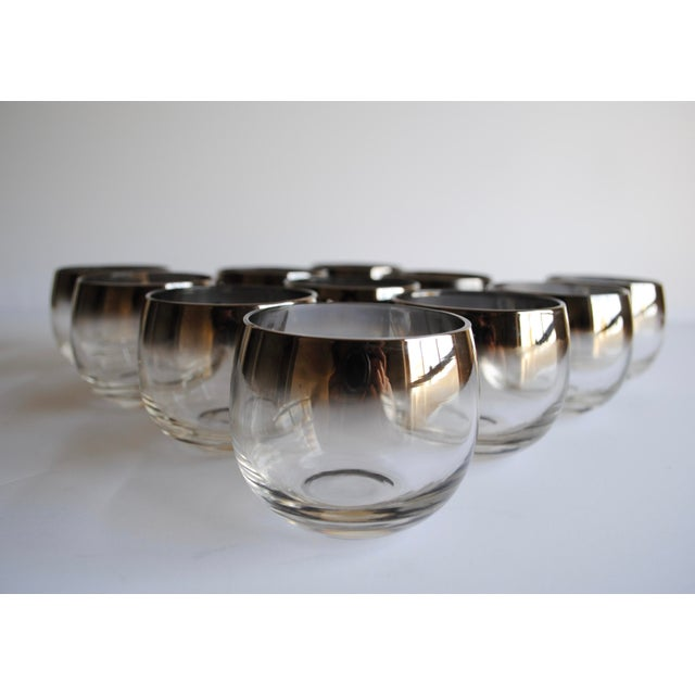 Mid-Century Silver Fade Punch Bowl & Glasses - Image 5 of 5
