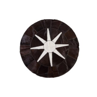 "Modern Cowhide Patchwork Area Rug - 5'2"" For Sale"