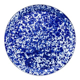 Large Tray Cobalt Swirl For Sale