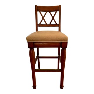 21st Century Vintage Custom Made Barstool For Sale
