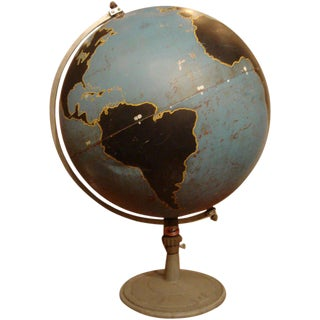 Vintage Military Globe by Denoyer Geppart For Sale