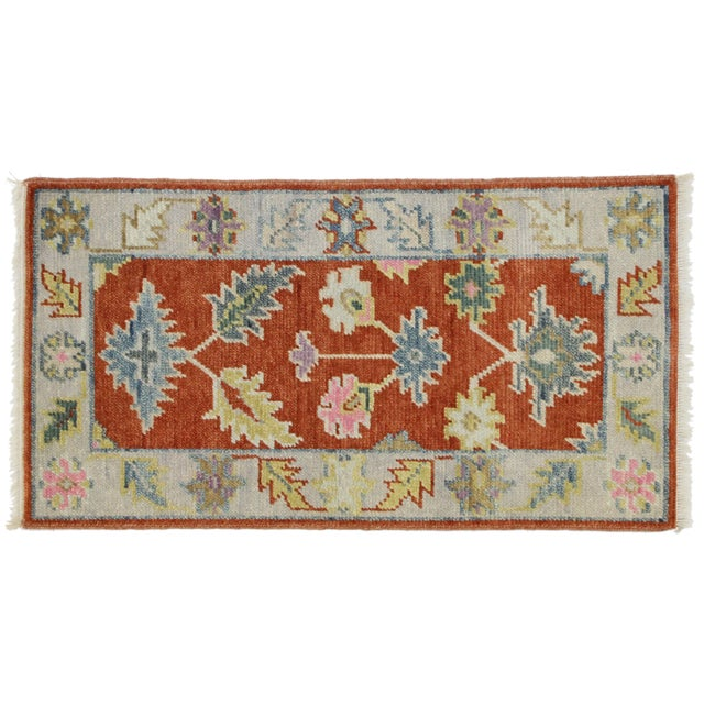 Orange Early 21st Century Oushak Accent Rug- 2' X 3'10 For Sale - Image 8 of 8