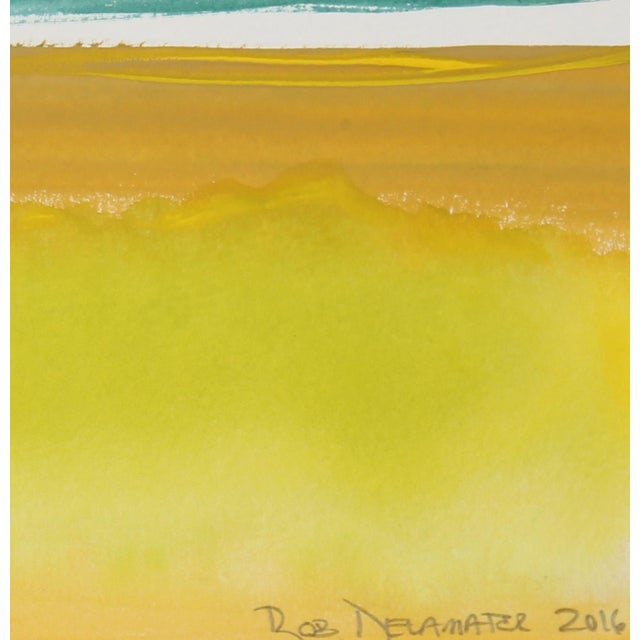 """Yellow and Green Horizon"" - Image 2 of 2"