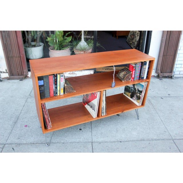 Mid-Century Modern Solid Wood Hair Pin Leg Credenza For Sale - Image 4 of 12
