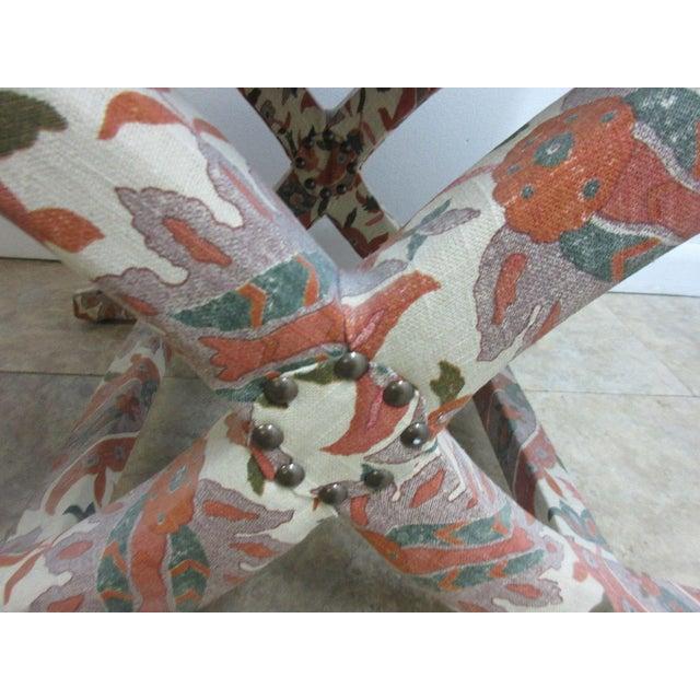 Custom Upholstered Ottoman Stool For Sale In Philadelphia - Image 6 of 7