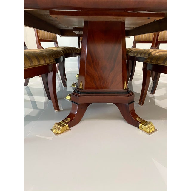 Custom Furniture Builders Custom Furniture Builders Versace Style Dining Set-Set of 9 For Sale - Image 4 of 13