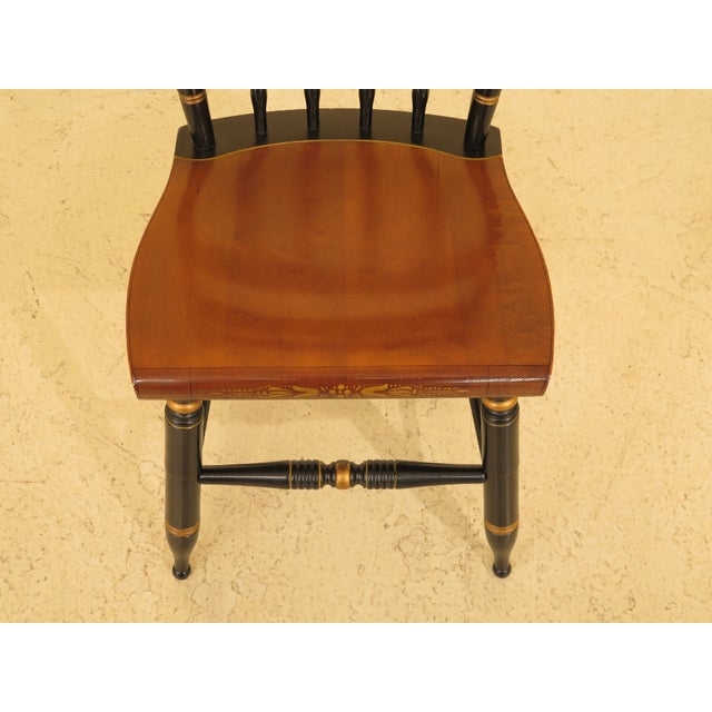 Traditional 1970s Vintage Hitchcock Eagle Stenciled Maple Side Chair For Sale - Image 3 of 10
