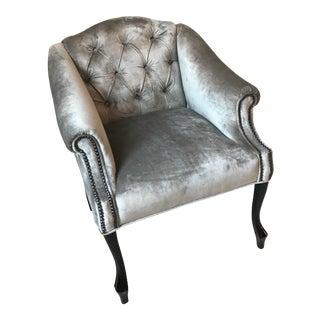 Mademoiselle Silver Club Chair