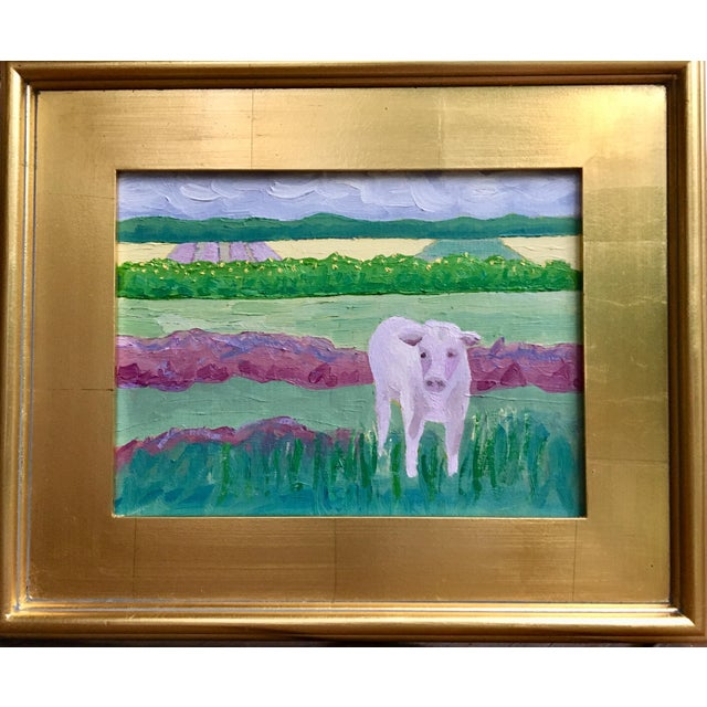 """Abstract """"Fields of Lavender"""" Plein Air Oil Painting by Kelly Ayers Sheehan For Sale - Image 3 of 3"""