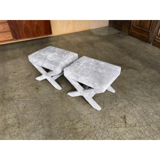 "Mid-Century Modern ""X"" Base Billy Baldwin Style Benches - a Pair Preview"
