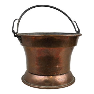 Hammered Copper Cauldron Pot