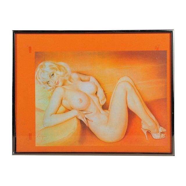 Vintage Vargas Blonde Pin Up Print - Image 2 of 6