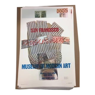 1977 Vintage Robert Rauschenberg SF MoMA Retrospective Poster For Sale