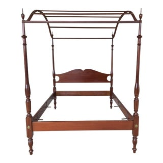 Vintage Suters Furniture Solid Mahogany Canopy Poster Bed