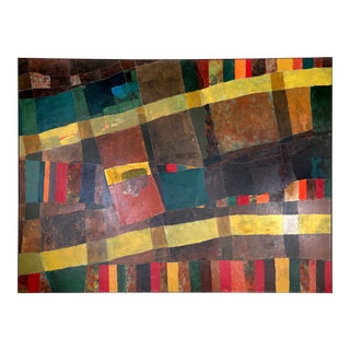 Abstract with Yellow Stripes by Teis