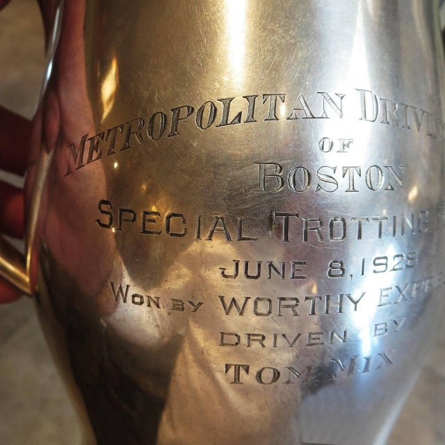 Paul Revere Tom MIX Sterling Pitcher From Metropolitan Driving Club, Boston 1928 For Sale - Image 4 of 8