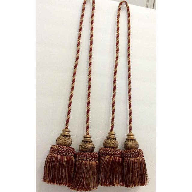 Moroccan Silk & Wood Bead Tassels- Set of 8 - Image 4 of 4