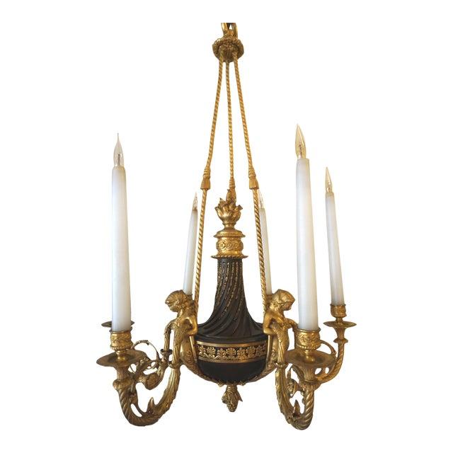 Maison Millet Bronze & Ormolu Chandelier- Circa 1860 For Sale
