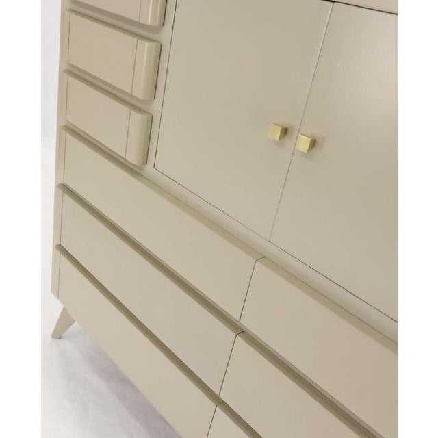 Multiple 12 Drawers Two Door Compartment Cube Shape High Wide Chest Dresser For Sale - Image 10 of 13