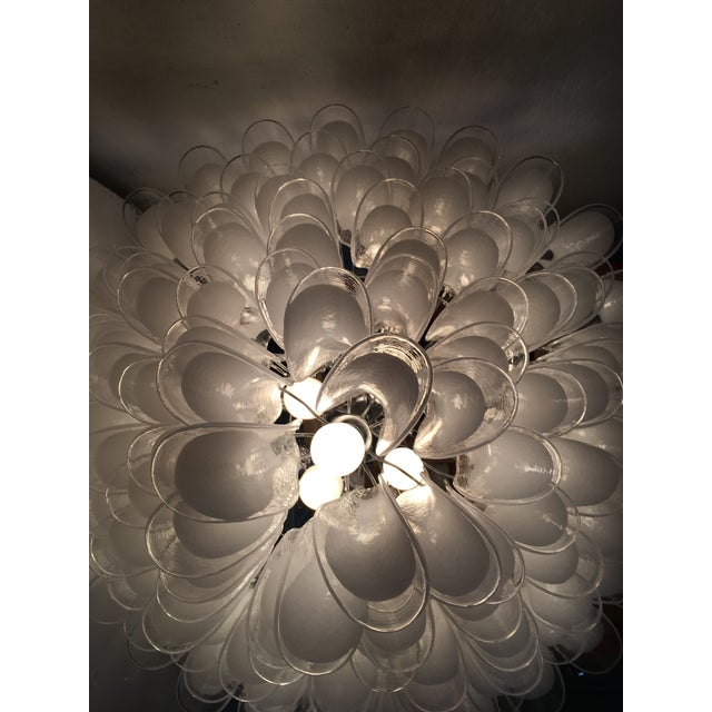 "Mazzega Style Murano Glass ""Selle"" Sputnik Chandelier For Sale - Image 9 of 11"
