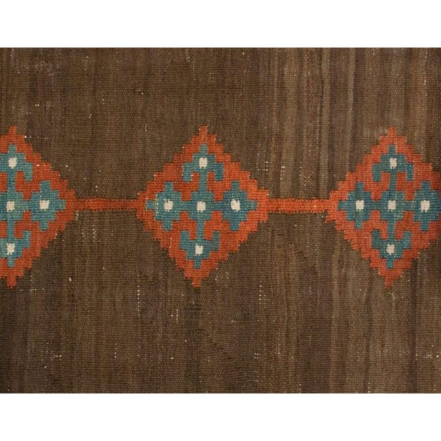 "Islamic Early 20th Century Persian Shahsavan Runner - 41"" x 189"" For Sale - Image 3 of 5"