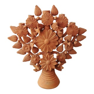 Vintage Oaxacan 'Tree of Life' Candelabra For Sale
