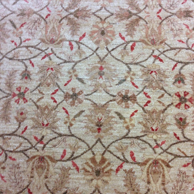 Red & Tan Floral Pattern Area Rug - 8' X 6' - Image 6 of 8
