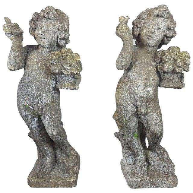 20th Century Italian Neoclassical Garden Statues Set, Garden Ornament For Sale - Image 10 of 10