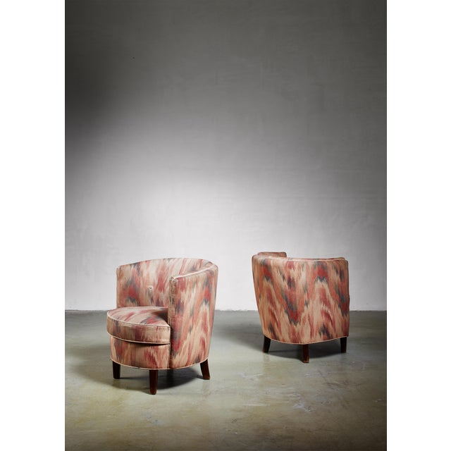 Pair of Danish Club Chairs, 1940s For Sale - Image 6 of 6