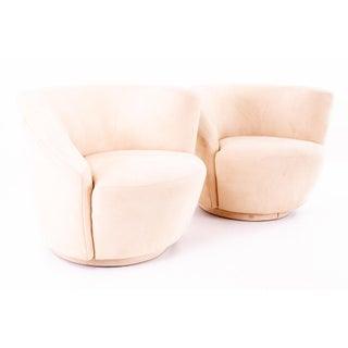 Mid Century Vladimir Kagan Nautilus Swivel Lounge Chairs - Pair Preview
