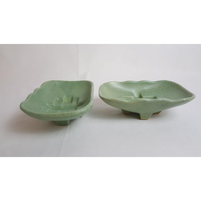 McCoy Mid Century Shallow Planters - Pair For Sale - Image 5 of 5