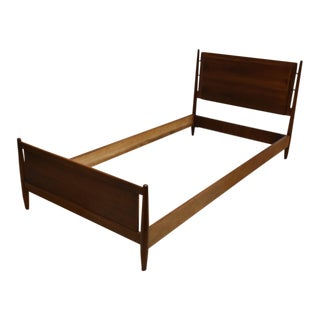 Drexel Walnut Twin Bed