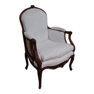 18th Century French Berger Chair With Unusual Arm For Sale
