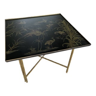 Chinoiserie Painted Serge Roche Style Table For Sale