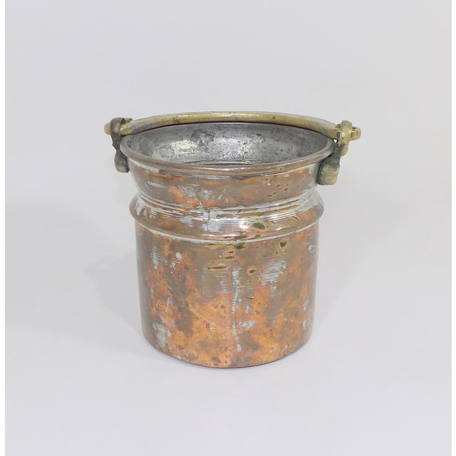 20th Century Industrial Brass Metal Bucket For Sale In Sacramento - Image 6 of 6