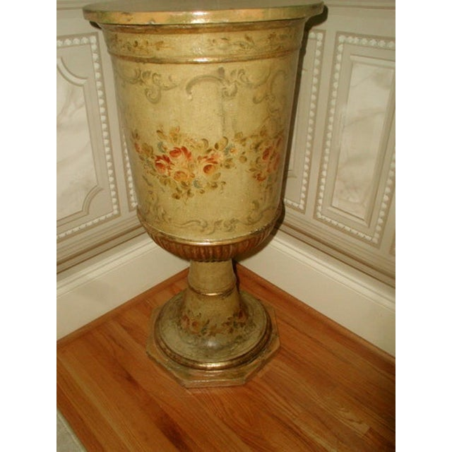 Picie Italian Hand Painted 19th C. Pedestal Table - Image 8 of 10