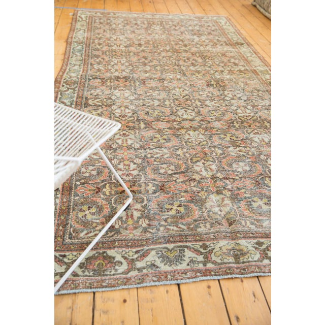 "Vintage Distressed Mahal Carpet - 5'5"" X 10' For Sale - Image 12 of 13"