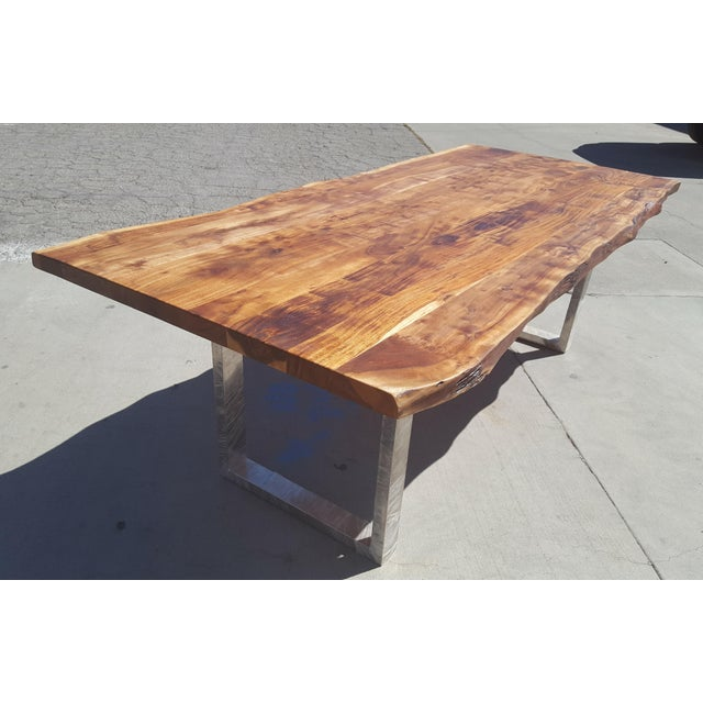 Acacia Wood Live Edge Dining Table - Image 8 of 8