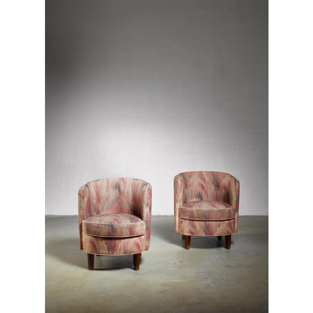 Pair of Danish Club Chairs, 1940s For Sale - Image 4 of 6