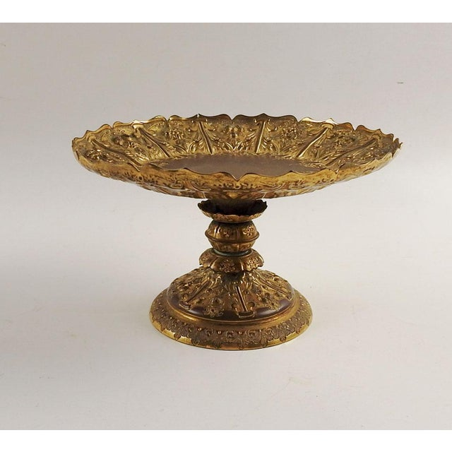 Gilt Bronze Footed Dish Compote For Sale In San Antonio - Image 6 of 6