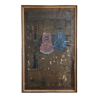 Antique Asian Ancestral Portrait Painting For Sale