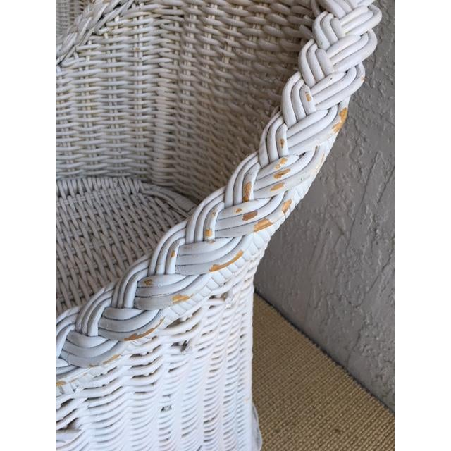 Woven Rattan Bar Stools - a Pair For Sale In Miami - Image 6 of 9