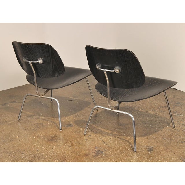 Herman Miller 1950s Black LCM by Charles and Ray Eames for Herman Miller - a pair For Sale - Image 4 of 8